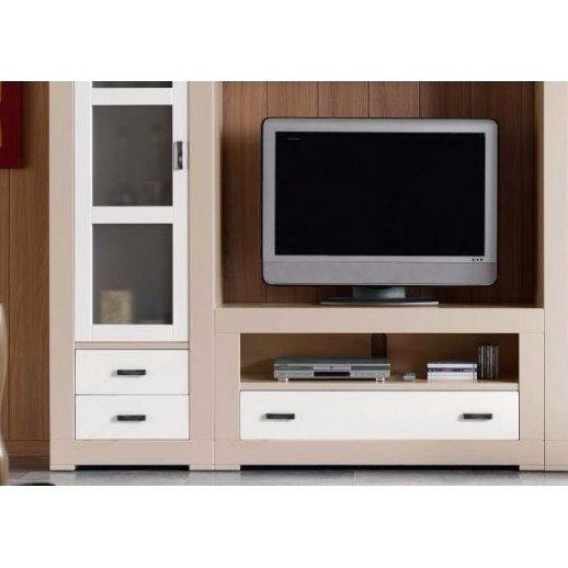 Mueble tv 120 omme color blanco lacado for Mueble tv lacado