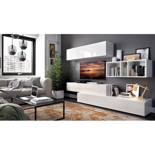 Ambientes salones modernos acabado blanco brillo polar - Ambientes salones modernos ...