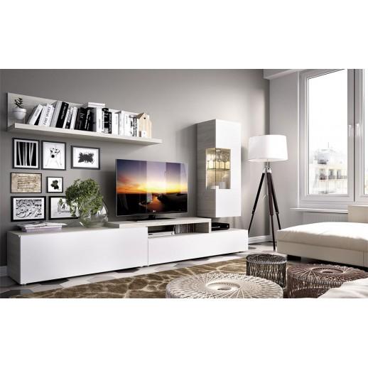 Ambientes salones modernos acabado gris blanco sat n - Ambientes salones modernos ...