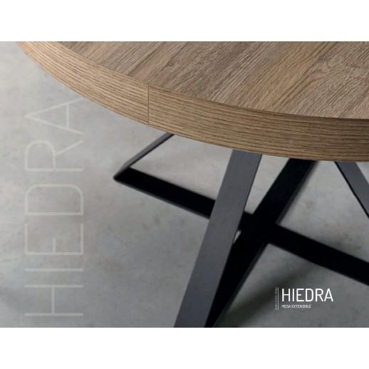 MESA COMEDOR REDONDA EXTENSIBLE - HIEDRA