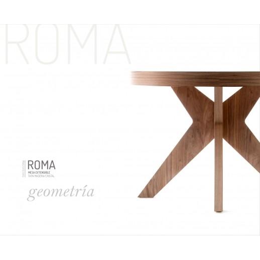 MESA COMEDOR REDONDA FIJA / EXTENSIBLE ROMA