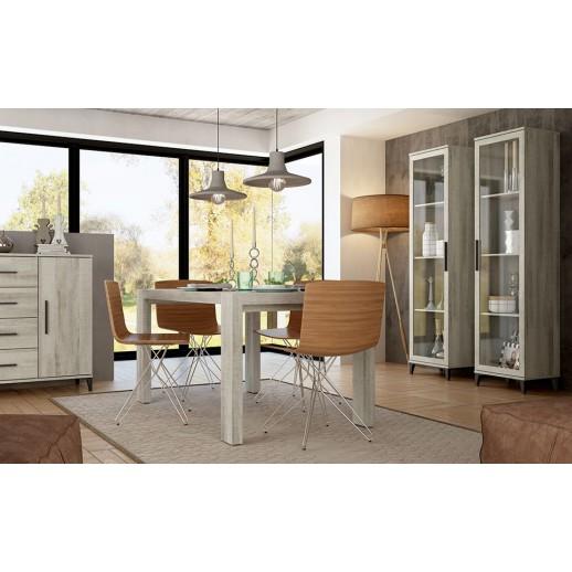 Mesa rectangular deslizante extensible for Mesa rectangular extensible