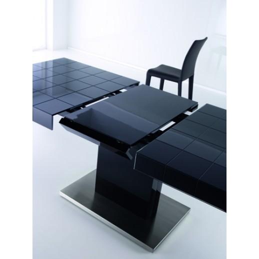 Mesa comedor moderna con extensible central de cristal - Mesas comedor modernas extensibles ...