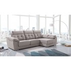 CHAISE LONGUE  ASIENTOS EXTRAIBLES Y RESPALDOS RECLINABLES