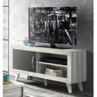 MUEBLE TV 130 MODERNO 1 PUERTA COLOR ARTIC/GRAFITO