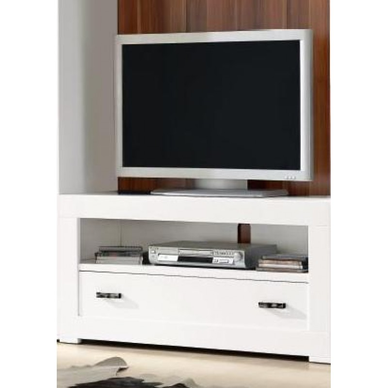Mueble tv 120 omme color blanco lacado for Mueble tv lacado blanco