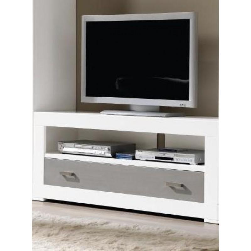 mueble tv 140 omme color blanco lacado plata lacado. Black Bedroom Furniture Sets. Home Design Ideas
