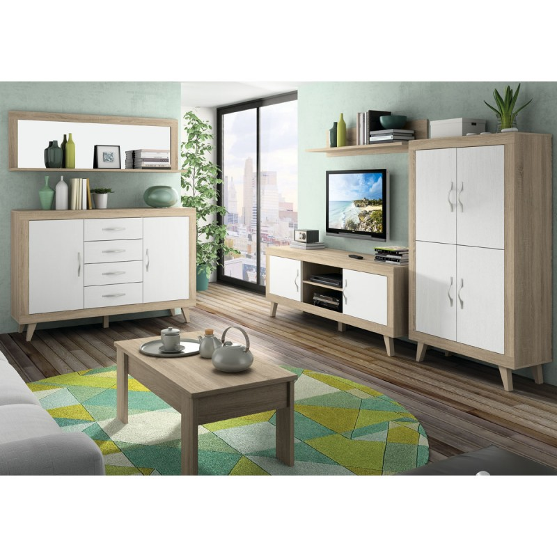 Sal n moderno 03 color cambrian blanco soul for Color cambrian muebles